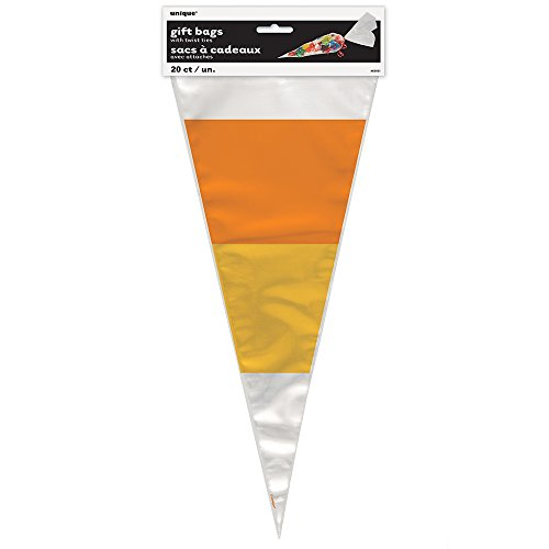 Candy Corn Halloween Cone Cellophane Bags, 20ct (Corn Cones compare prices)
