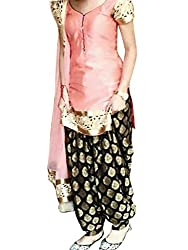 1 Stop Fashion Chanderi patiyala with jacquard bottom