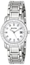 Bulova Womens 96R105 Diamond Accented Calendar Watch