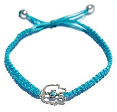 Hamsa Adjustable Turquoise Bracelet Made in Israel