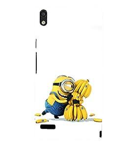 printtech Yellow Funny Chiquita Banana Cartoon Back Case Cover for Huawei Acend P6