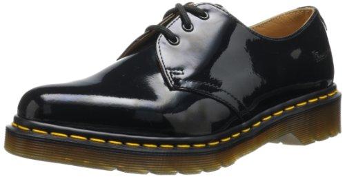 Dr. Martens 1461 Patent Black, Scarpe Basse Stringate Unisex Adulto, Nero (Patent Black), 38