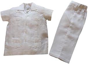 Aby39s Kids Boys Guayabera Pants Set