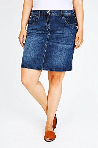 cheap yoursclothing plus size womens indigo denim mini