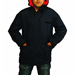 ICE BEAR Men's Chiller Hooded Jacket (PJ01-L, Navy Blue, Large)