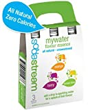 #2: SodaStream My Water Flavour Essence - Mix case of 3 flavours: Lemon Lime, Orange, Berry