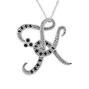 K Letter In Diamond Ring clothing shoes jewelry novelty more novelty jewelry necklaces pendants
