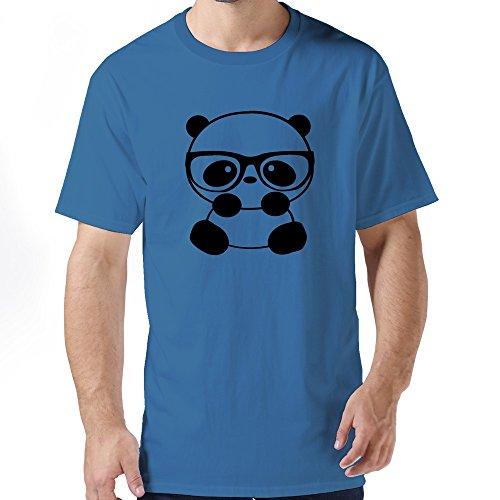 Nice Nerd Panda Mens T Shirt Xx-Large Royalblue