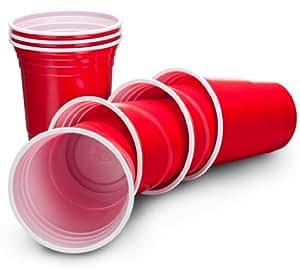 VonShef Ruby Rote Apfelrote Amerikanische Einweg-Partybecher Party ...