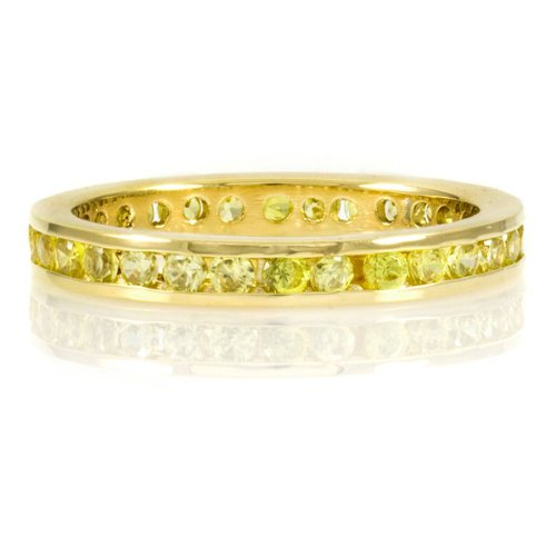 Kee's Gold Plated Eternity Band- Canary CZ - Final Sale