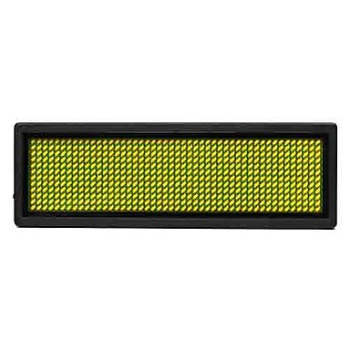 100Mw Yellow Led Mini Board / Led Name Card With Multi Modes Battery Powered