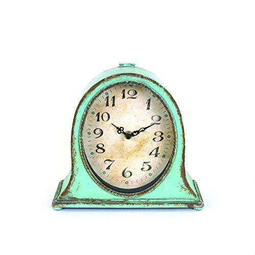 Creative Aqua Metal Table Clock 0