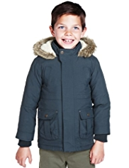 Hooded Faux Fur 3-in-1 Jacket