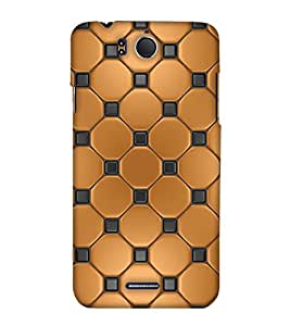 PrintHaat Designer Back Case Cover for InFocus M530 (golden and black texture :: decorative design :: golden circle surrounded by black dots)