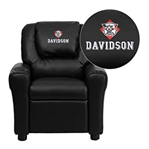 Flash Furniture Davidson College Wildcats Embroidered Black Vinyl Kids Recliner with... by Flash Furniture