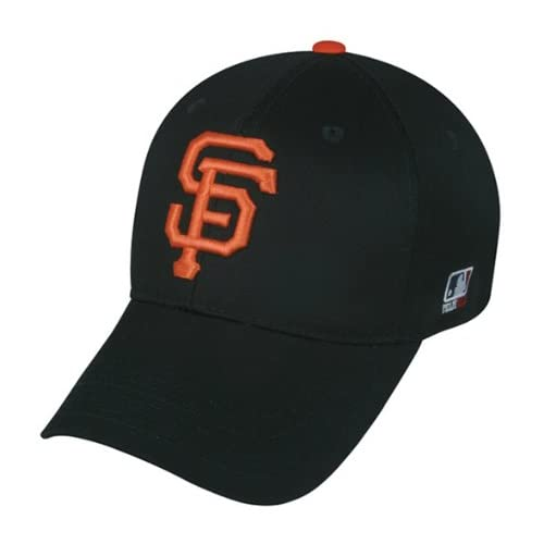 MLB YOUTH San Francisco GIANTS Home Black Hat Cap Adjustable Velcro TWILL New
