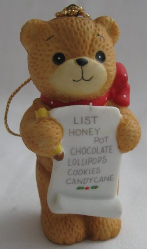 1985 Enesco Lucy Rigg Teddy Bear Making a List