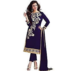 Marvadi Collections Womens New Attractive Semi-Stitched Straight Suit