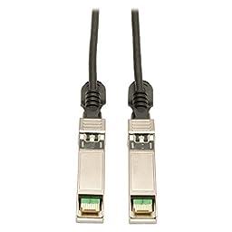 Tripp Lite SFP+ 10Gbase-CU Passive Twinax Copper Cable, Cisco Compatible SFP-H10GB-CU5M, Black 5M (16-ft.) (N280-05M-BK)