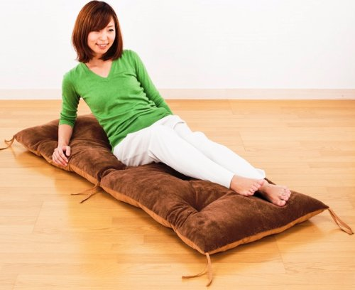 ☆ whole washable microfiber and rumbling long cushion reversible type ☆ one side of the good textured microfiber material on one side smooth and silky polyester material so all-season use convenient ◎ (Brown)