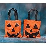 Dozen Orange & Black Jack o' Lantern Treat Bags