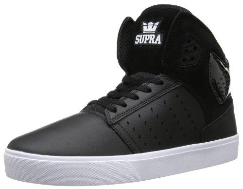 Supra - Sneaker ATOM, Unisex adulto, Nero (Schwarz (BLACK-WHITE BLK)), 40.5
