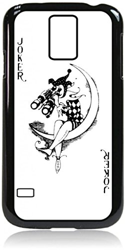 Joker Playing Card - Joker With Binoculars - Hard Black Snap On Plastic Case - For The Samsung® Galaxy S5 I9600 Case
