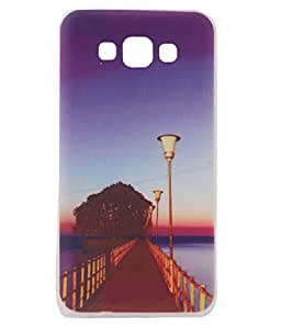 Brown Exclusive Soft Silicone Back Case Cover For Samsung Galaxy A7