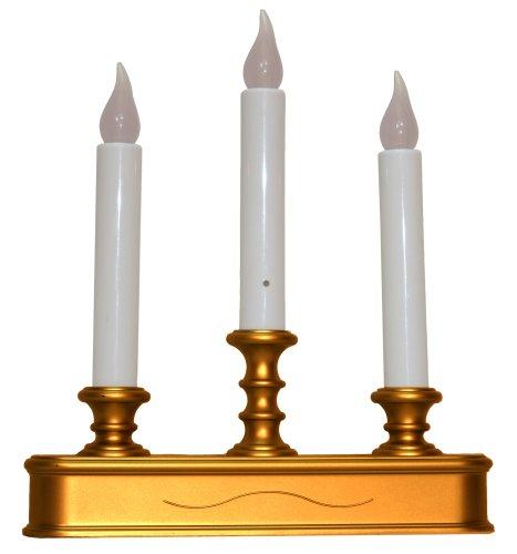 tier window christmas candle holder with sensor antique finish. Black Bedroom Furniture Sets. Home Design Ideas