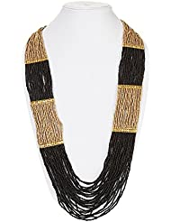 DCA Black & Gold Glass Women Necklace