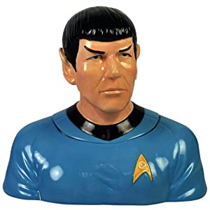 "Westland Giftware Star Trek Spock Cookie Jar, 8""x12""x13"""