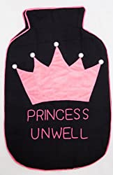 Bandbox Princess Unwell Hot Water Bag Cover - Black & Pink ( Size-- 13 in. x 8 in.)