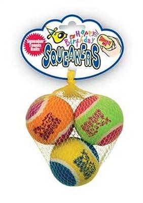 KONG Air Dog Squeakair Birthday Balls Dog Toy, Medium, Colors Vary (3 Balls) from Kong Company