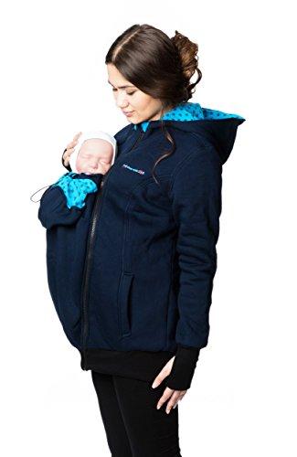 #Tragejacke #Umstands-Pullover #Umstandsmode aus #Sweatstoff #GoFuture #(S #, #Marine / mit #Sternen)