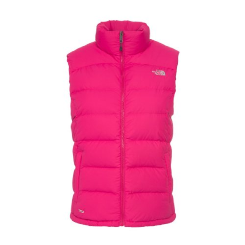 The North Face Women'S Nuptse 2 Vest In Passion Pink front-797457