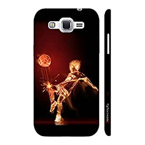 Enthopia Designer Hardshell Case Football on Fire Back Cover for Samsung Galaxy J2 (2016)