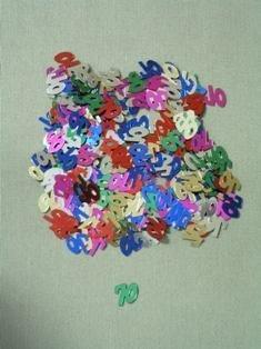 70 Confetti, Multi-Color, 10 mm Size, 1/2 oz Bag (Qty 1 Bag)