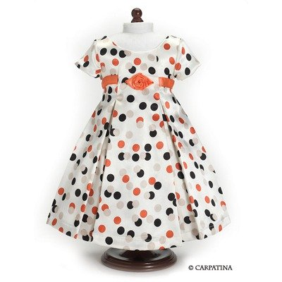 Vintage Polka Dot Dress - Fits 18