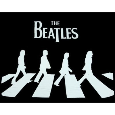 The Beatles Abbey Road Silhouette Fleece Throw Blanket Afghan