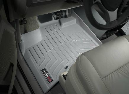 Town Country 2008-2012 Chrysler & WeatherTech da pavimento, colore: grigio, colore: nero (Set completo di posti) [-Stow 'n Go [] non-passeggeri per Fissaggio laterale del dispositivo di WeatherTech]