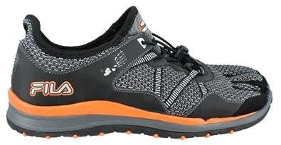Men's Fila, Skele-toes Bay Trail Slip-on Shoe GREY ORANGE 11.5 M