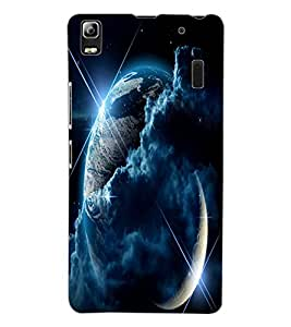 ColourCraft Awesome Galaxy Design Back Case Cover for LENOVO K3 NOTE