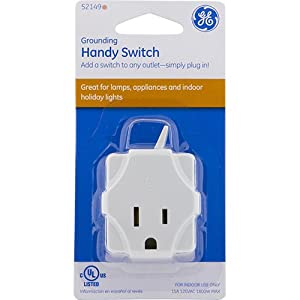 GE 52149 Handy Switch Grounded White