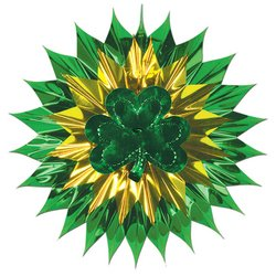 Shamrock Fan-Burst Party Accessory (1 count) (1/Pkg)