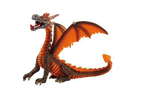Bullyland Fantasy: Sitting Orange Dragon - 1