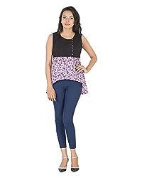 Parinita Women's Straight Sleeveless Top(150413_PURPLE-XXL, Purple, XX-Large)