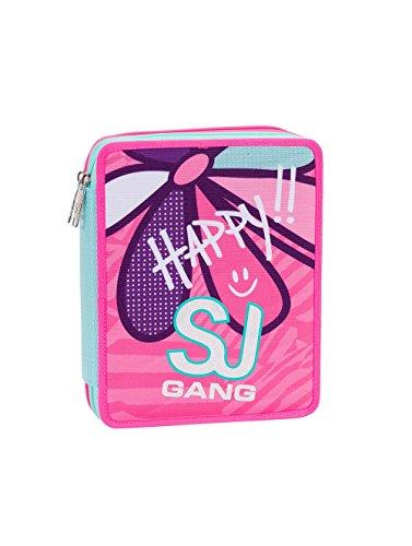 ASTUCCIO scuola SEVEN MAXI - SJ GIRL - 2 scomparti - pennarelli matite gomma ecc.. Azzurro Rosa