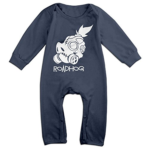 LCYCAD Newborn Babys Boy's & Girl's Roadhog Long Sleeve Jumpsuit Outfits For 6-24 Months Navy Size 12 Months