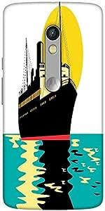 Snoogg Passenger Cargo Ship Designer Protective Back Case Cover For Motorola ...