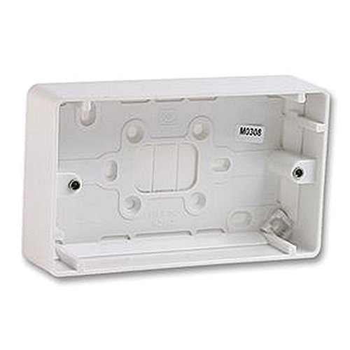 2 GANG SURFACE BOX - 40MM DEEP Electrical Back Boxes/Mounting Boxes